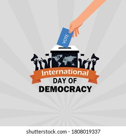 International Democracy Day, poster or banner for International Democracy Day. vector illustration