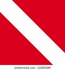 International dive flag vector