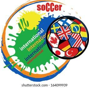 International Flag Soccer Ball