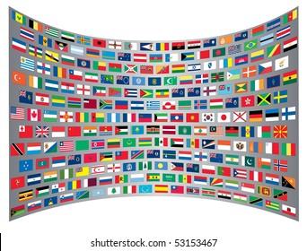 International flags background
