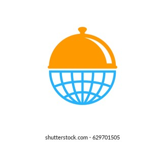 International Food Icon Logo Design Element