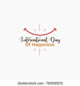 international happiness day logo template