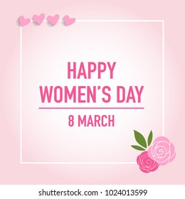 International Happy Women's Day. 8 March holiday background. Vector illustration