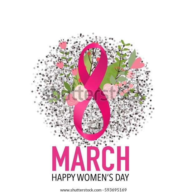 International Happy Women's Day. 8 March holiday background. Vector illustration.