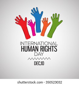 International Human Rights Day Celebration Background.Vector