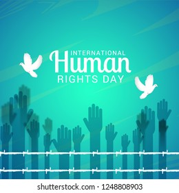 International Human Rights Day Poster Or Banner Background.