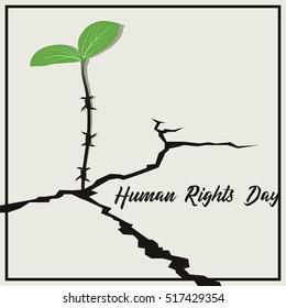 International Human Rights Day Poster Illustration