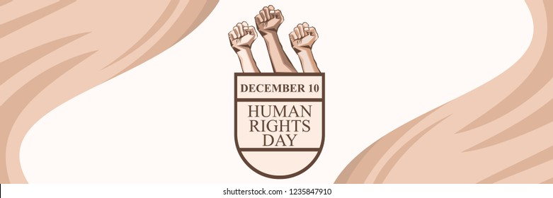International human rights day vector illustration. Suitable for greeting card, poster and banner.