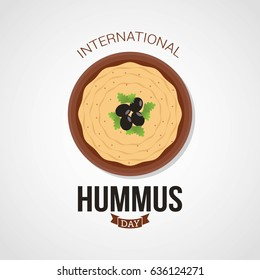 International Hummus Day Vector Illustration. Suitable for greeting card, poster and banner.