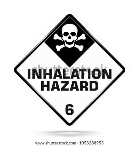 International Inhalation Hazard Class 6 Symbol White Stock Vector