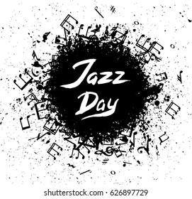 International Jazz Day illustration with sketch of saxophone