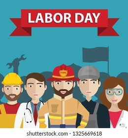 International Labor Day, People Group Different Occupation