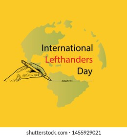 International lefthanders Day. August 13