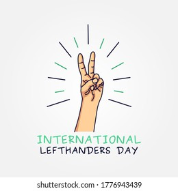 International Lefthanders Day Vector Illustration
