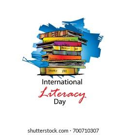 International Literacy Day poster.