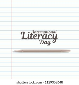 International literacy day. International literacy day poster. Education concept. Happy teacher day vector. World book day.