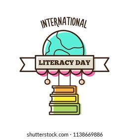 International literacy day. Vector illustration.
