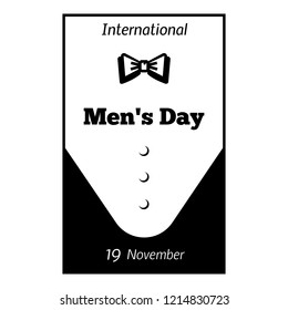 International men day bow tie icon. Simple illustration of international men day bow tie vector icon for web design isolated on white background