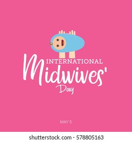 International Midwives Day Vector Illustration. Suitable for Greeting Card, Poster and Banner