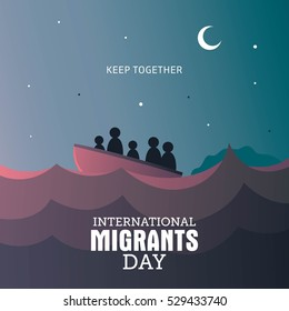 International Migrants Day Vector Illustration.