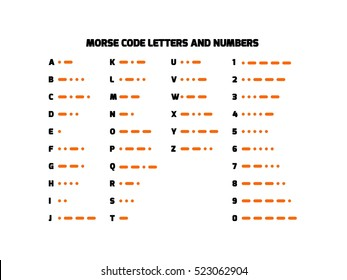 International Morse Code Images, Stock Photos & Vectors