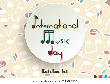 International Music Day Vector Holiday Poster