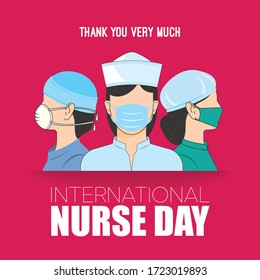 International nurse Day is 12 may. this is a typography of International nurse Day