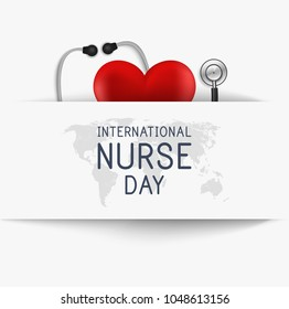 International nurse day. Medical background. Vector