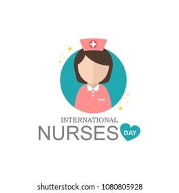 international nurse day modern vector illustration