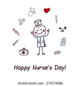 International nurse day. Vector illustration. Eps 10.