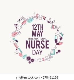 International nurses day illustration.