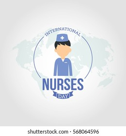 International Nurses Day Vector Illustration. Suitable for greeting card, poster and banner