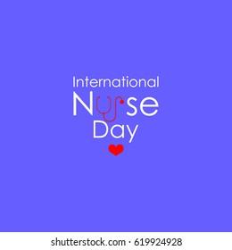 International Nurses Day vector illustration.