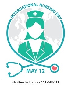 international nursing day symbol, logo, concept