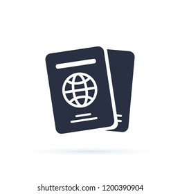 International passport vector icon. filled flat sign for mobile concept and web design. Travel documents simple solid icon logo illustration. Pixel perfect vector graphics. ID international document