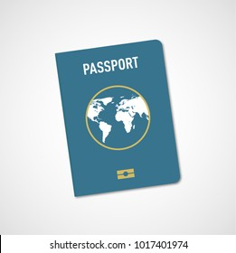 International passport. Vector illustration