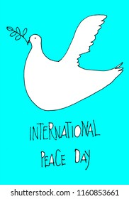 international peace day art with dove