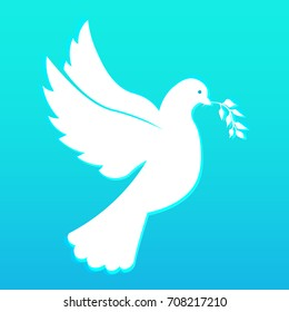 International Peace Day banner. 21 September. Dove with olive branch