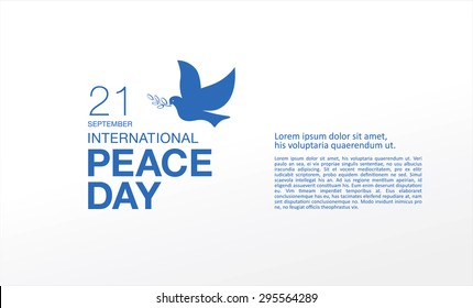 international peace day, card design