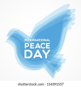 International Peace Day with dove