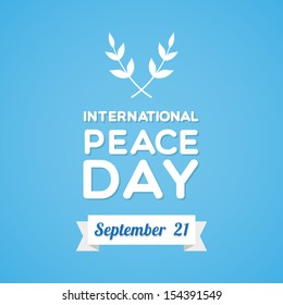 International Peace Day with olive branch