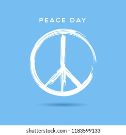 International peace day. vector background illustration poster.