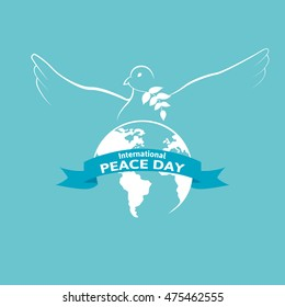 International peace day vector poster