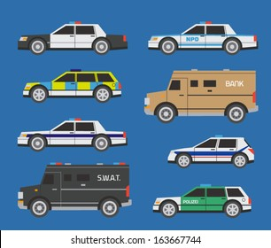 International police cars