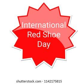 International Red Shoe Label, July 25