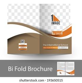 The International School Bi-Fold Mock up & Brochure Design