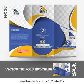 The International School Tri-Fold Mock up & Brochure Design