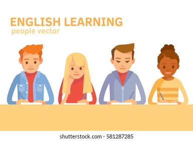 International students learning english