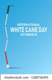 International white cane day concept banner. Realistic illustration of international white cane day vector concept banner for web design