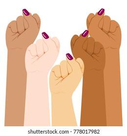 Internationales Frauentag-Diversität erregte das erste starke Mädchenmachtkonzept